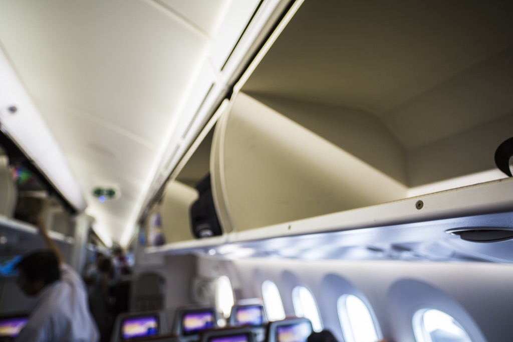 overhead bins business travel