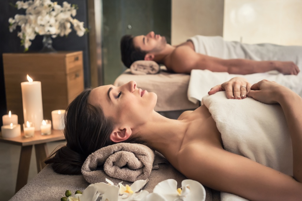 couple getting massage together