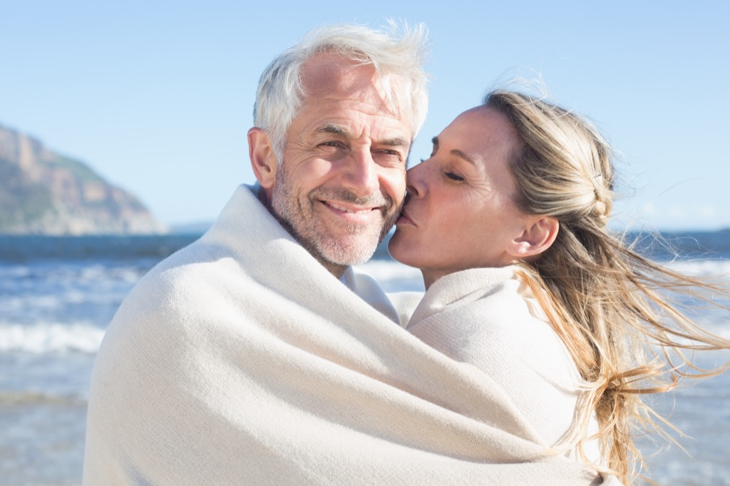 woman kissing man relationships with big age difference