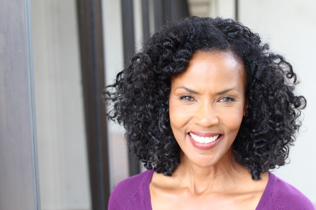older woman smiling, look better after 40
