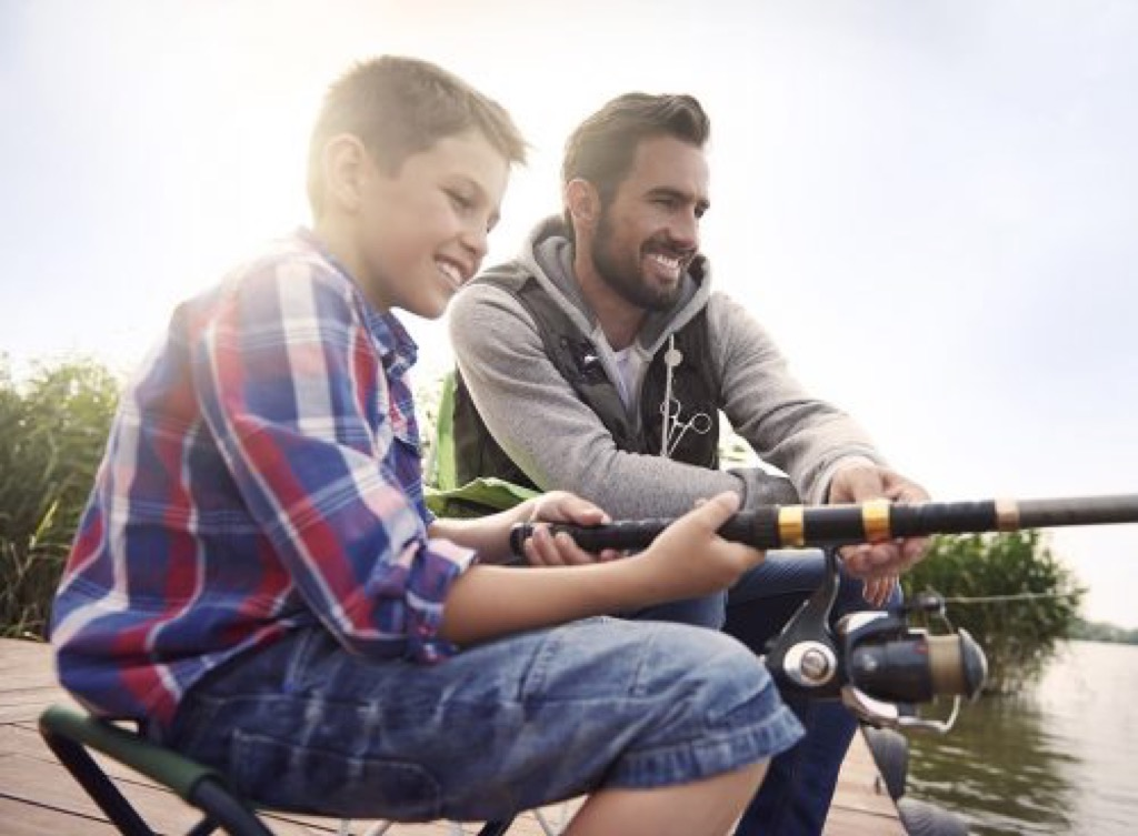 Father and son fishing Smartest Men Get Ahead