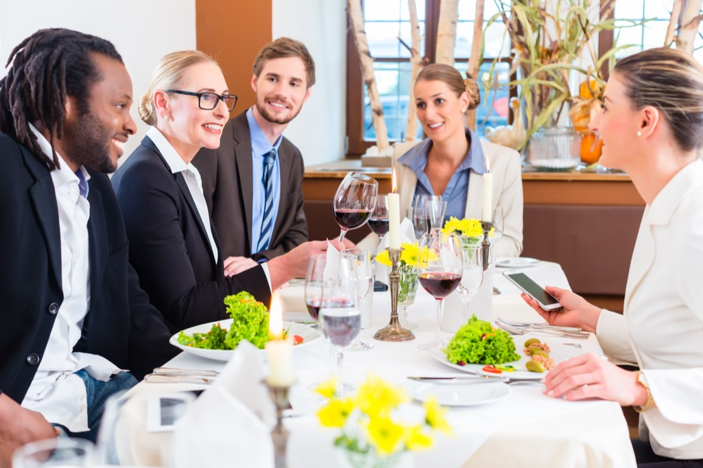 corporate business dinner
