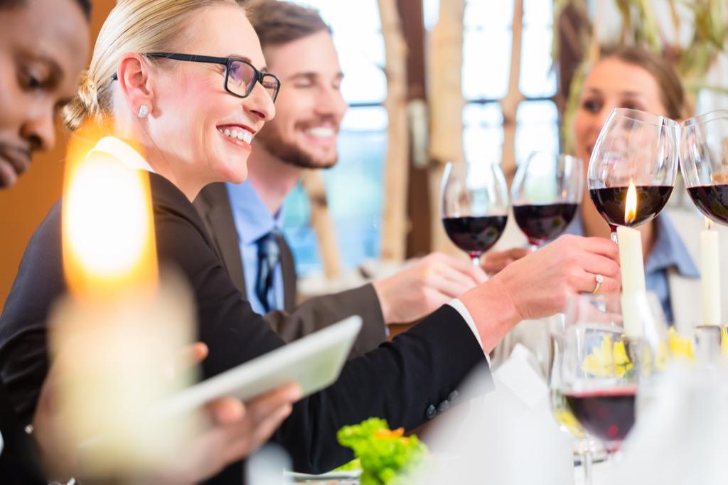 corporate dinner event