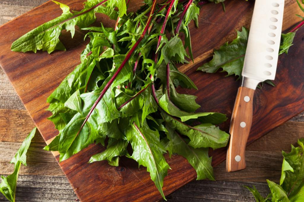 dandelion greens, best brain foods