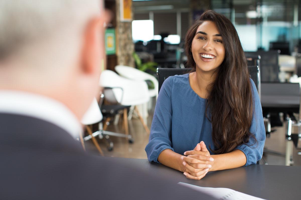 women at job interview