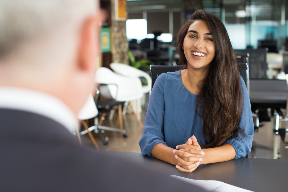 women at job interview worst interview answers