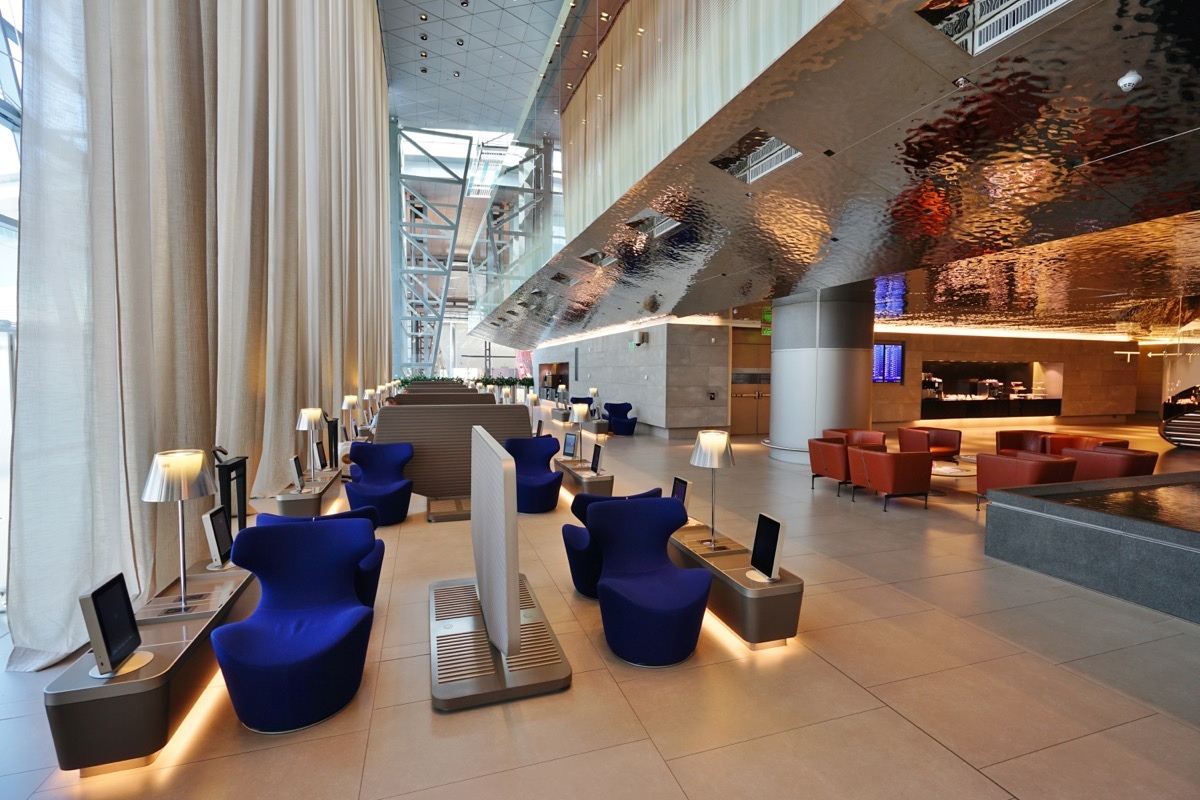 hamad international airport first class business lounge, luxury airport lounges