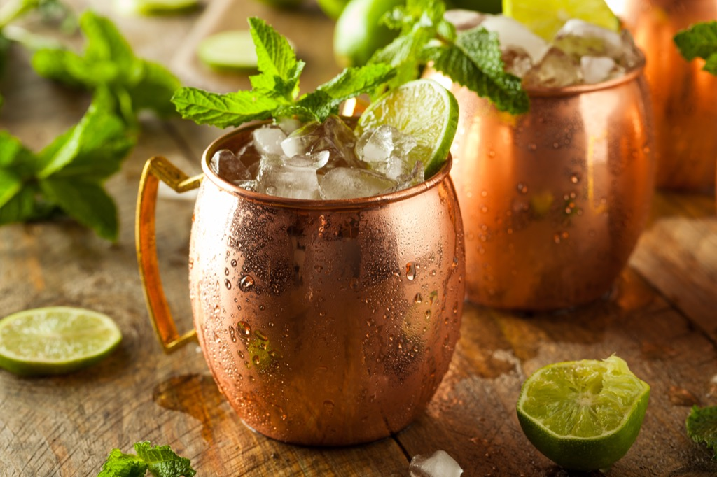 Drinking with boss, moscow mule