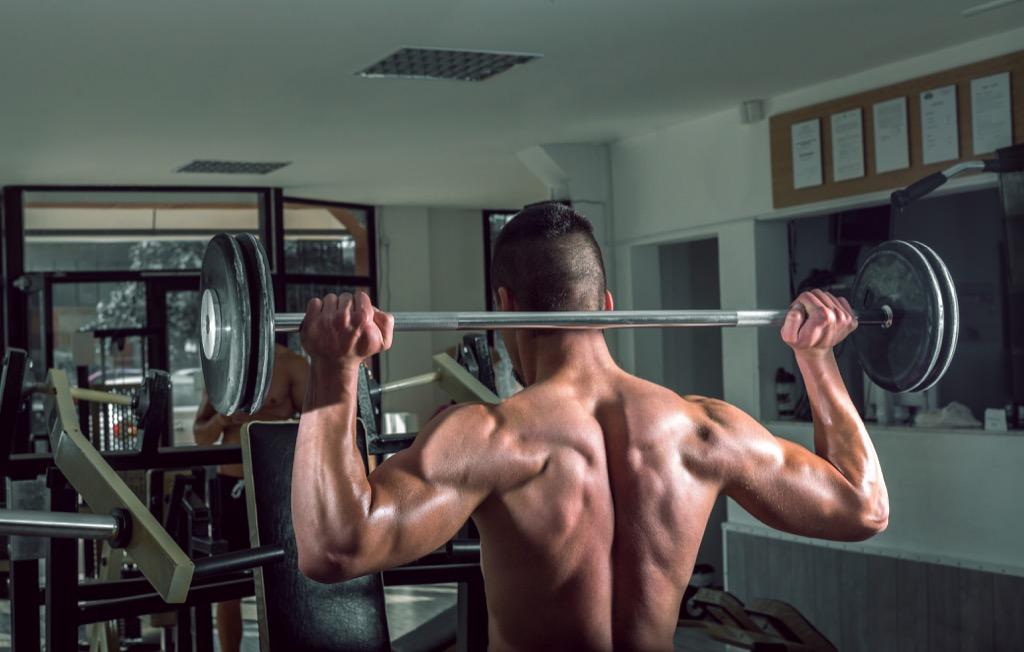 Common exercises shoulder press