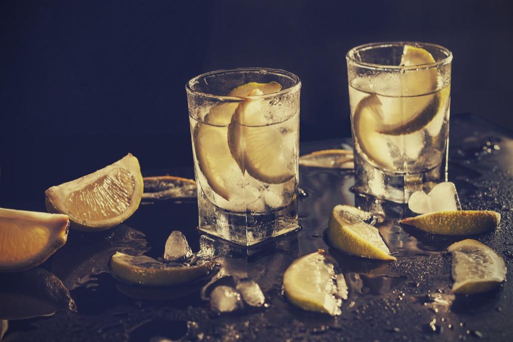 Drinks with boss, mezcal soda
