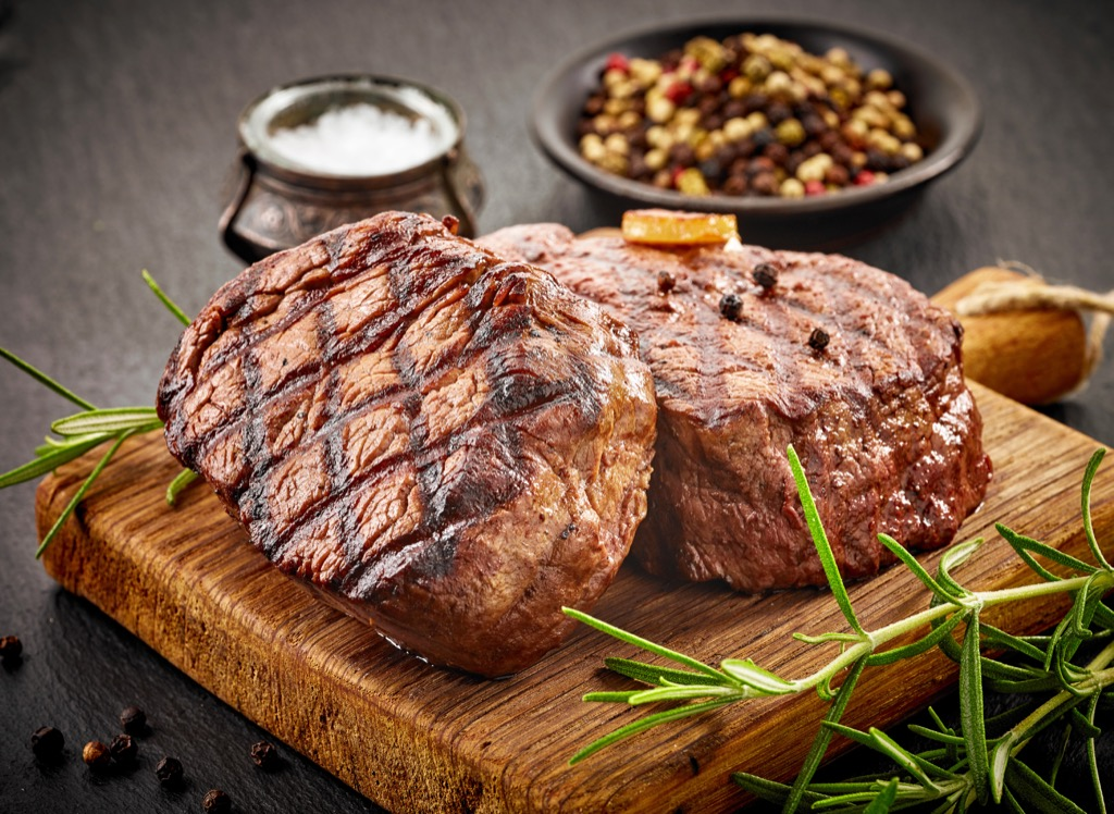 Beef steak filet mignon Health boosters
