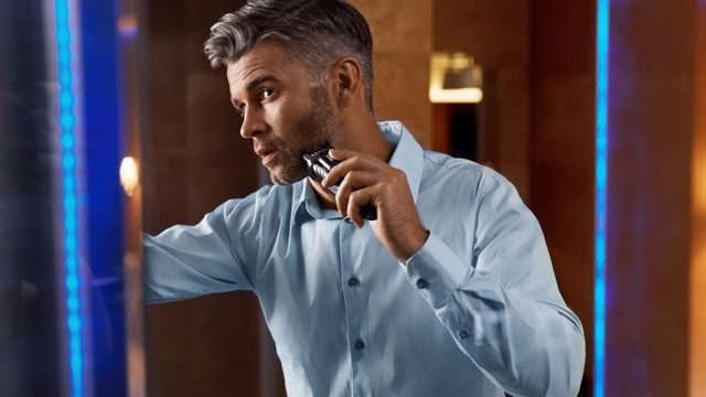 man getting ready for big date