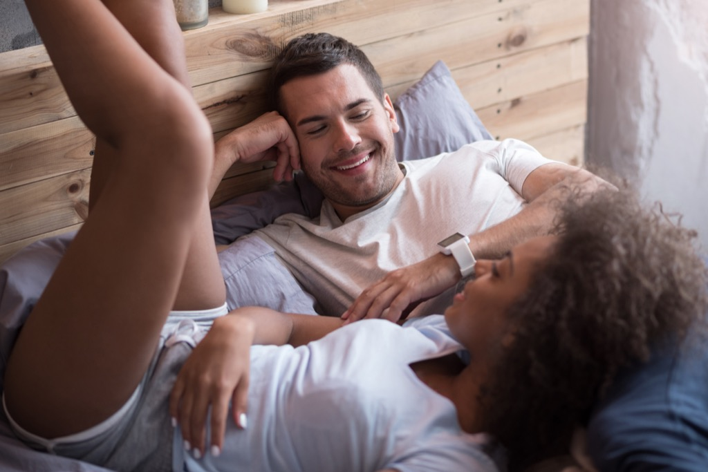 Couple Laying in Bed Lie Like a Spy