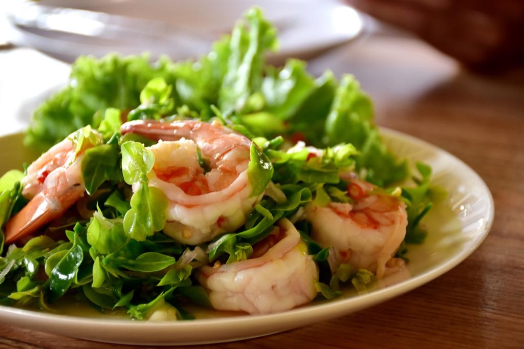 Shrimp salad libido food