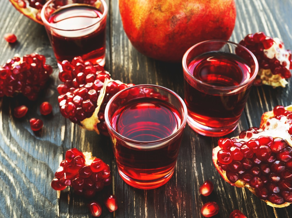 Pomegranate juice aphrodisiac foods