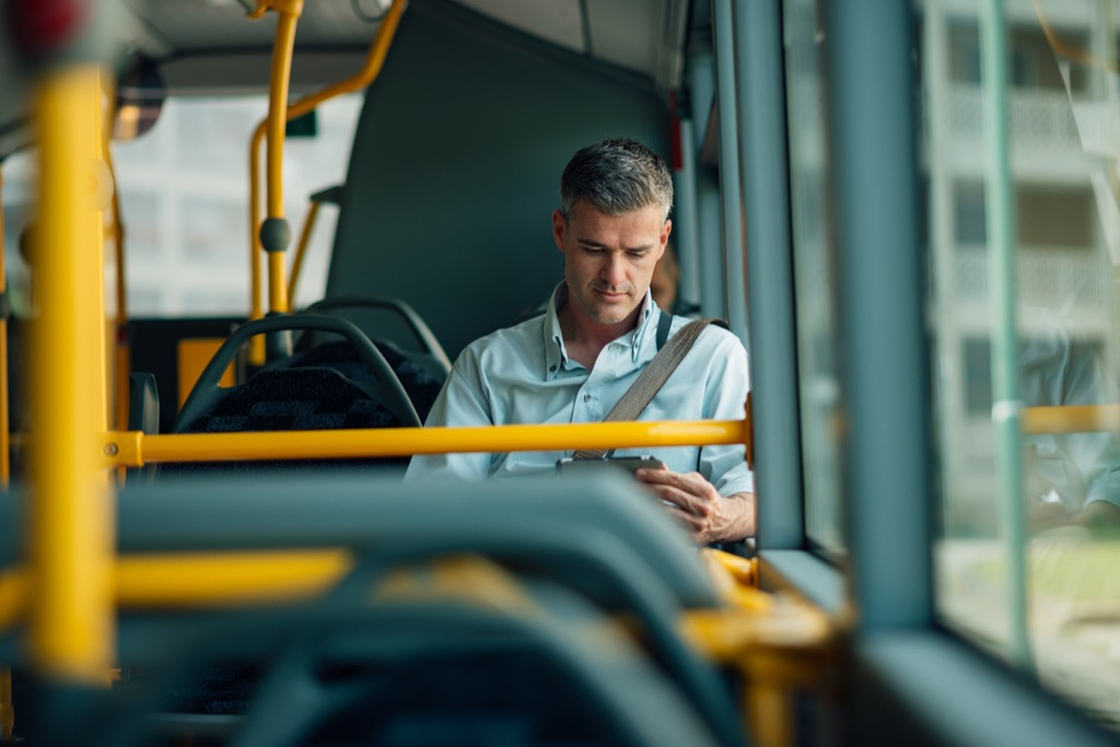 Man Commuting to Work Over 40
