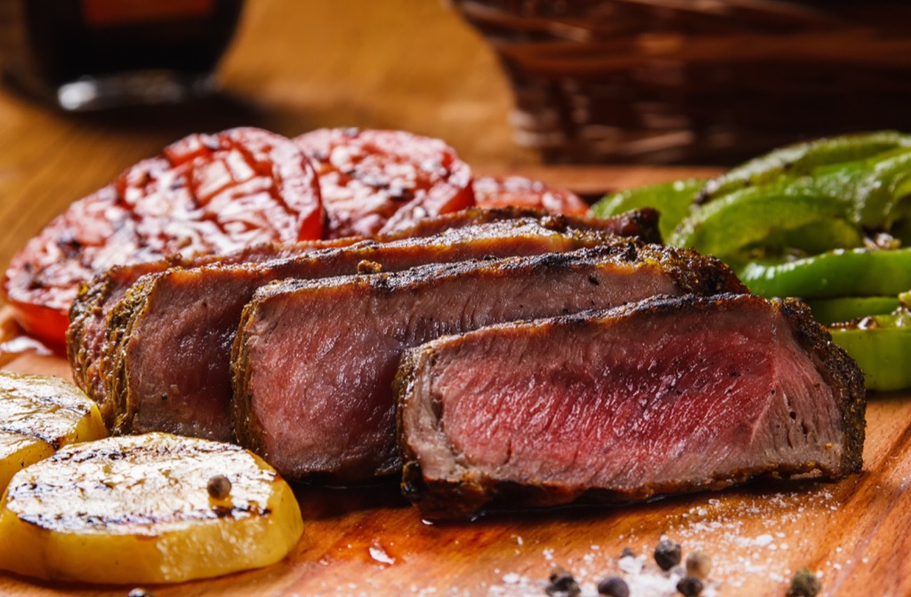 Beef steak, stay lean