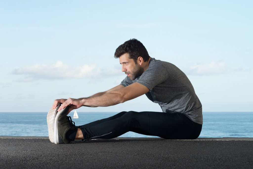 Stretching lubed joints exercise