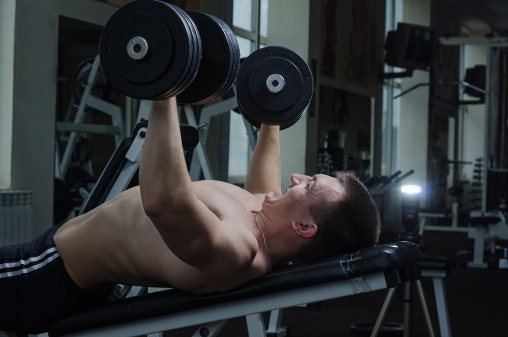 Dumbbell chest press Exercises for Adding Muscle