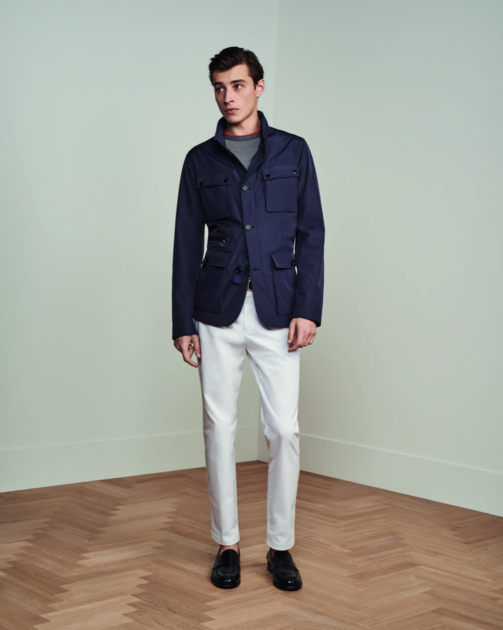 look 7 tommy hilfiger preppy white pants suits blazers