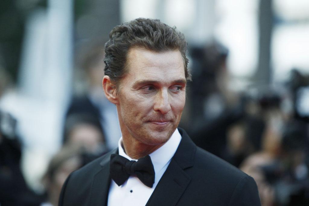 Matthew McConaughey at a film premiere in a tuxedo