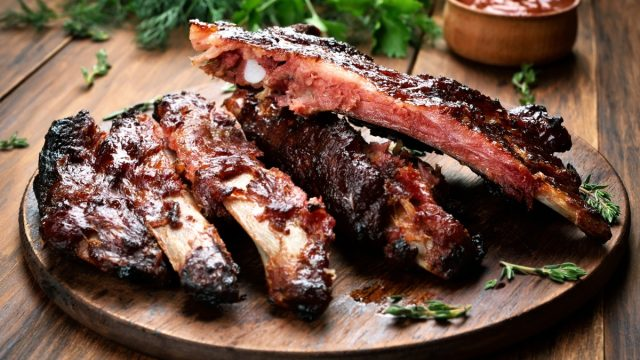 plate of barbecue ribs, greatest bbq joint