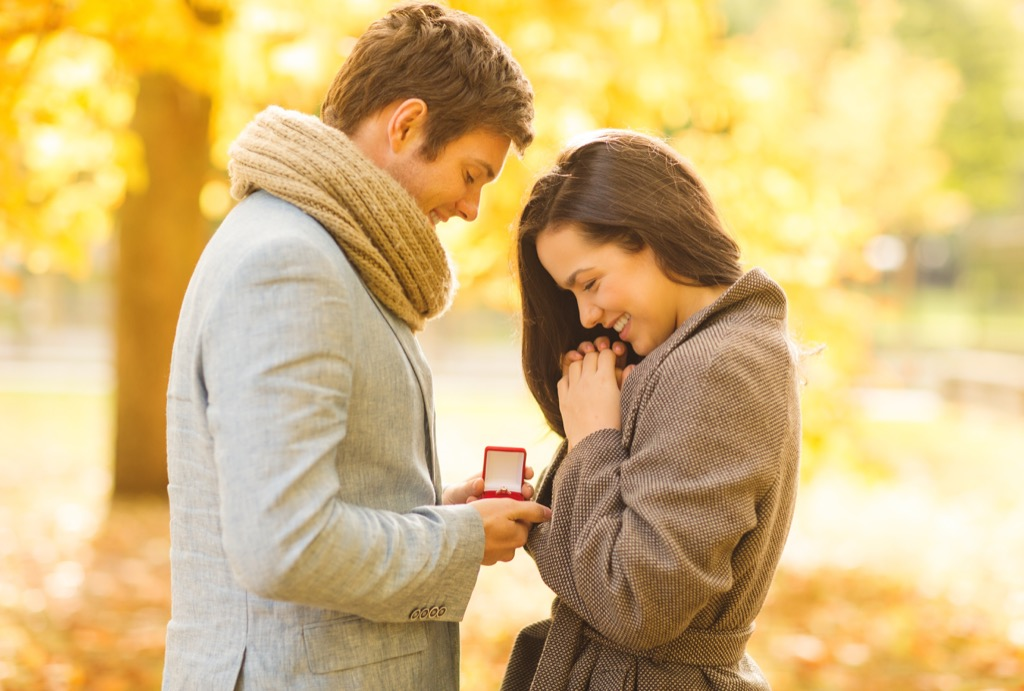 Outdoors Marriage Proposal - engagement proposal