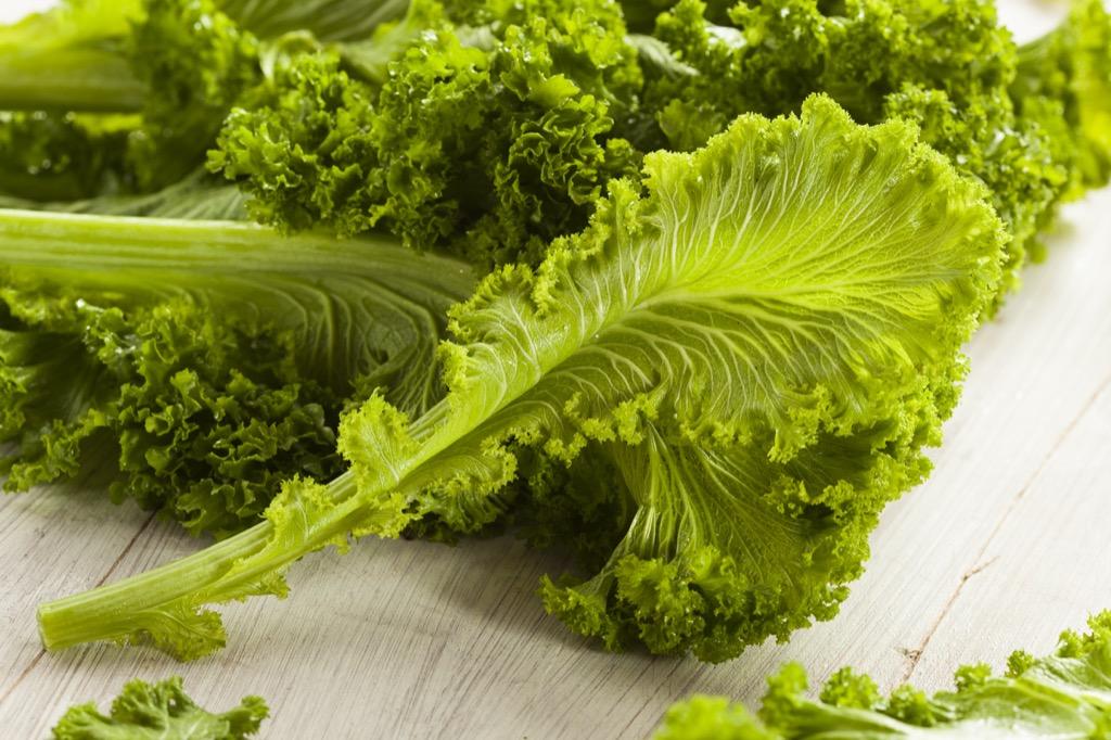Vegetarian diet mustard greens