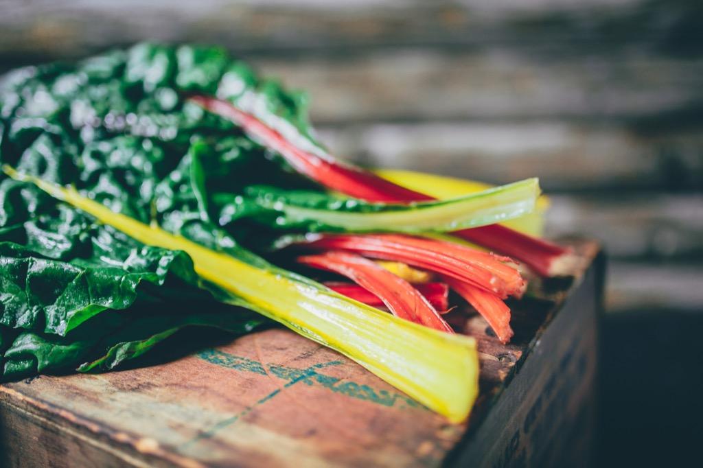 Vegetarian diet swiss chard, first heart attack