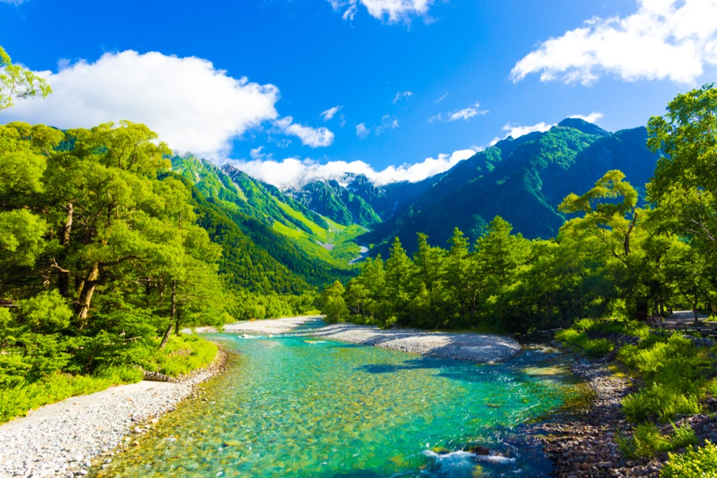 Japanese Alps traveling