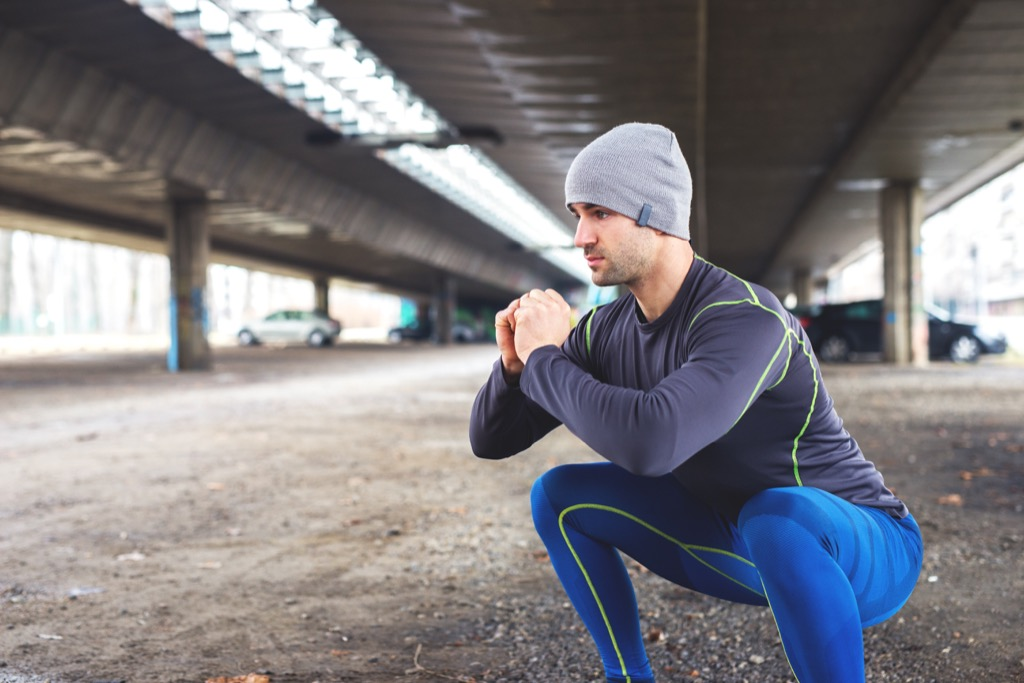 tendon exercise squat frog stretch