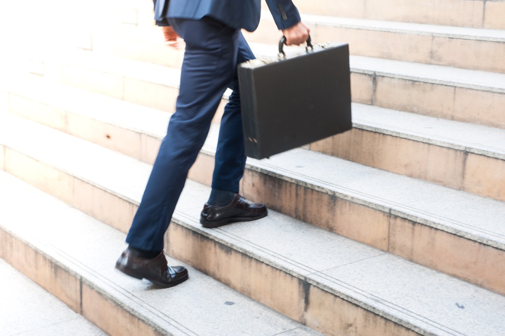 taking the stairs will give you an instant energy boost