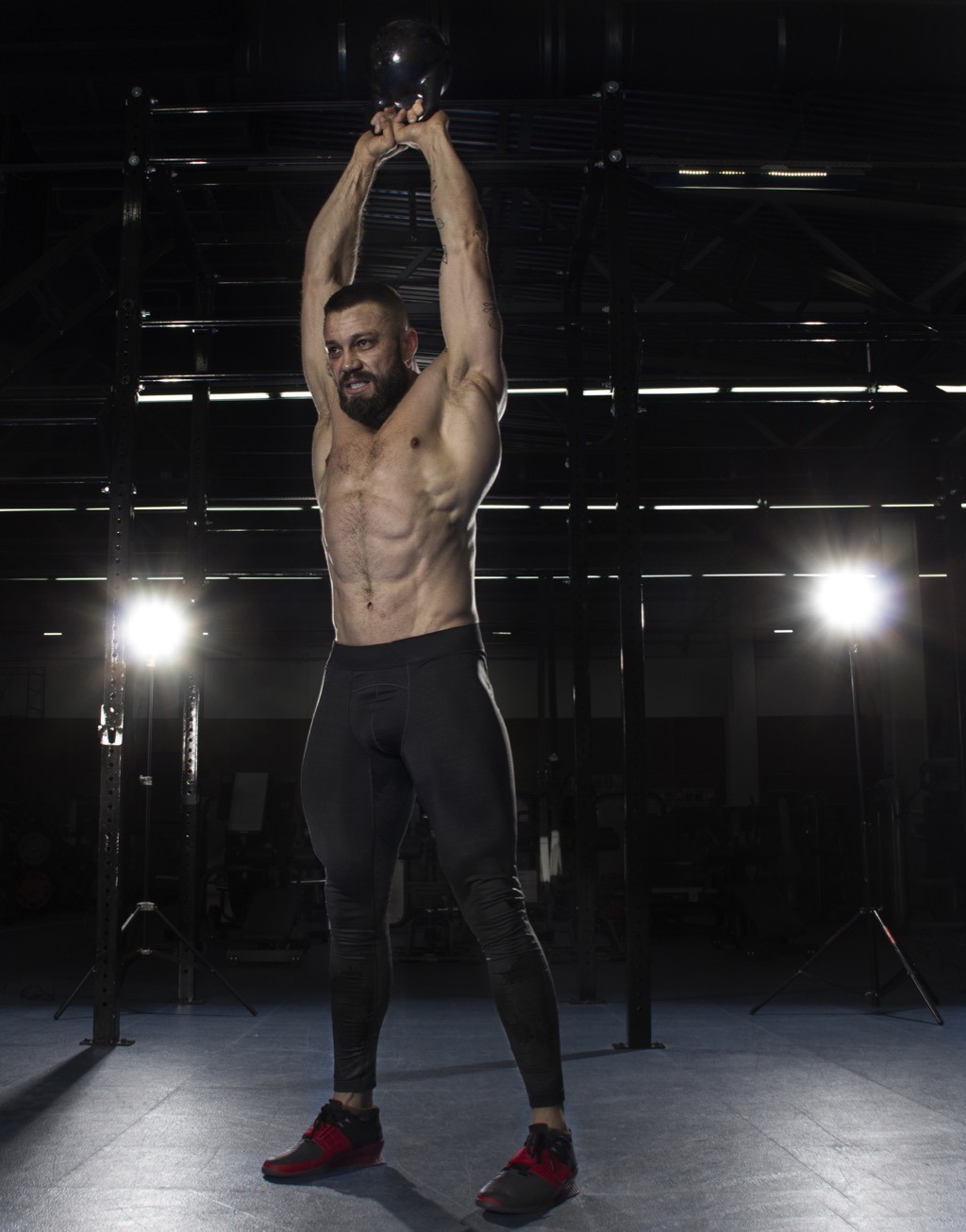 Total body workouts kettlebell swing exercise
