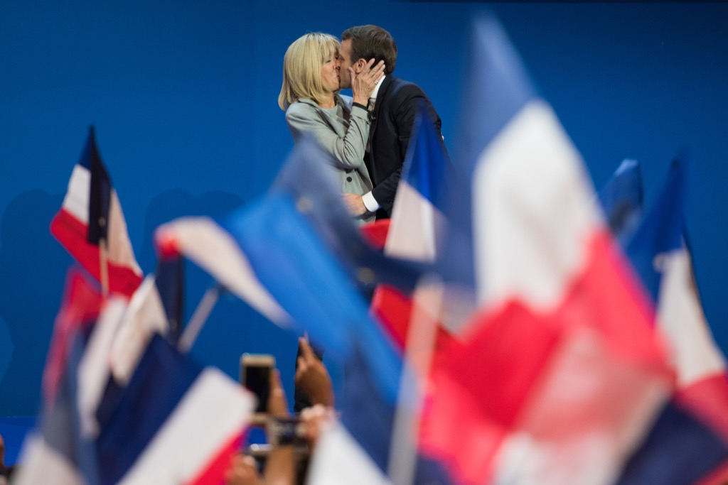 Emmanuel and Brigitte Macron relationships with big age difference