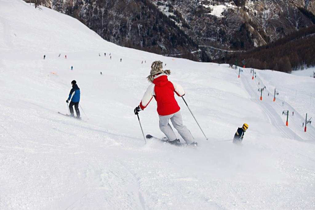 Luxury exercise classes skiing