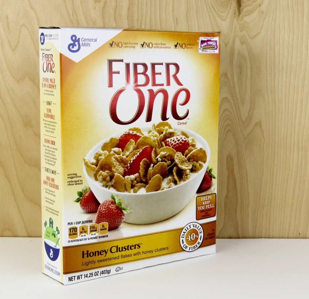 Fiber one cereal, which is one of the best anti-aging foods for men north of 40.