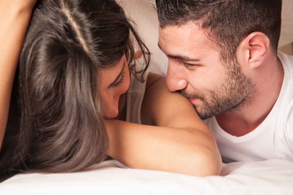 Couple, bed what women want to hear