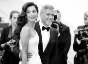 George Clooney embracing fatherhood with wife Amal.