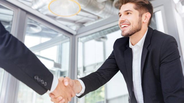handshake interview business