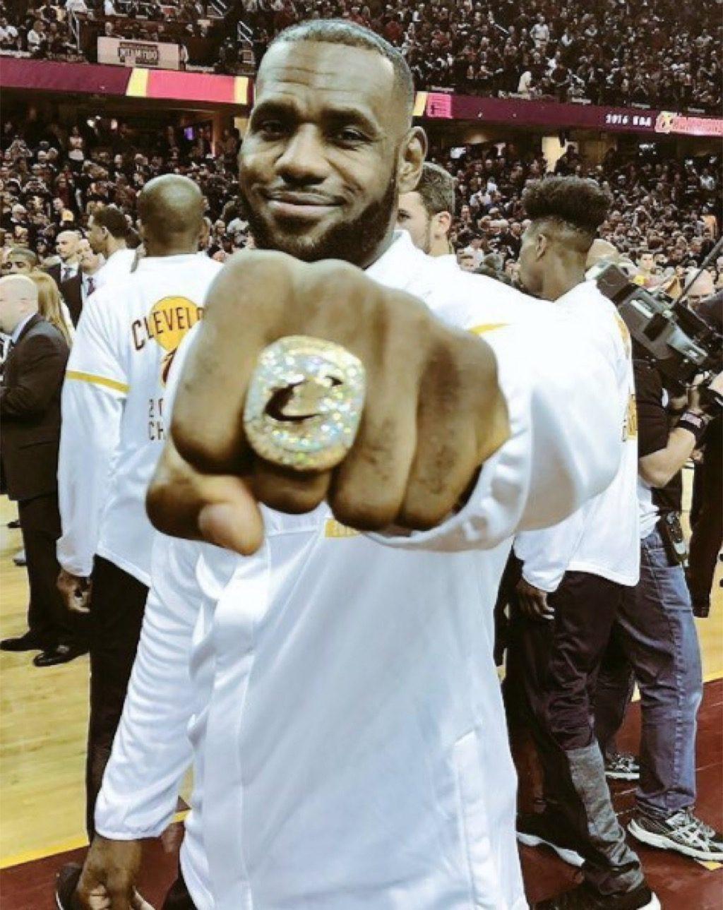 LeBron James, championship ring