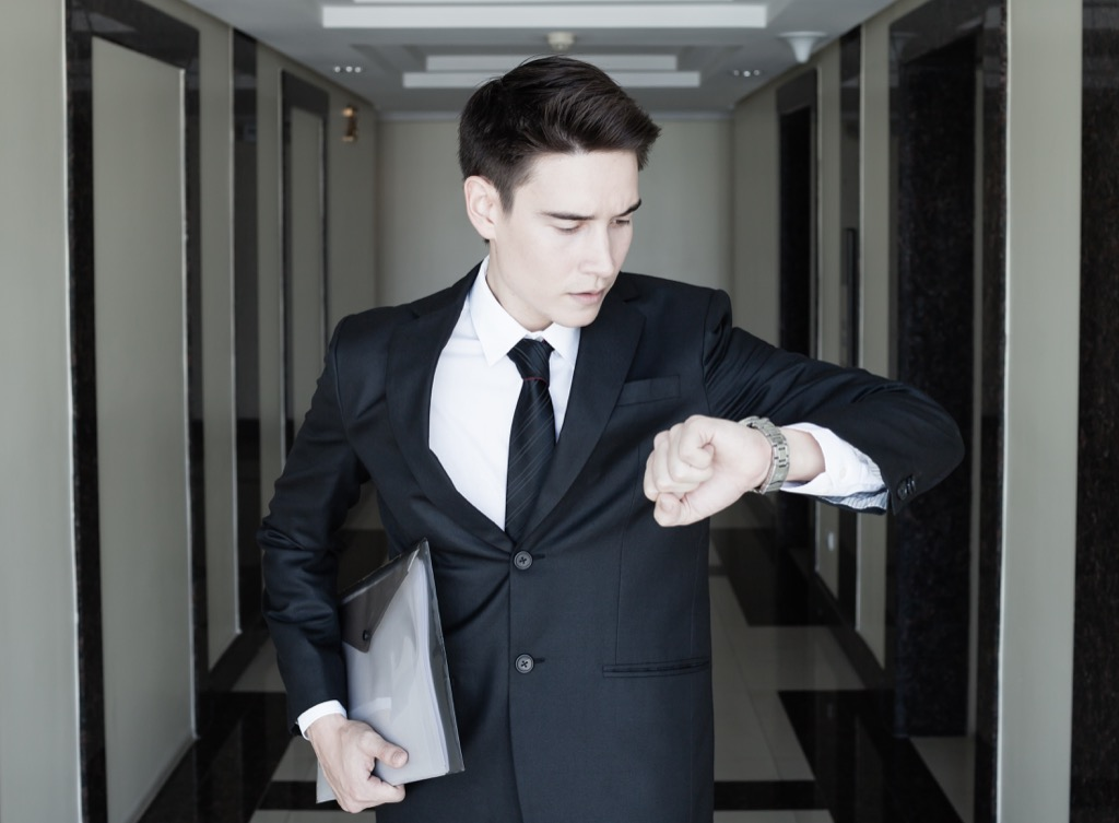 Man leaving work because he feels he's in the wrong job.