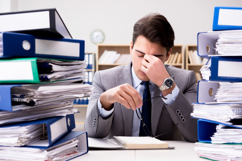 Stressed Out Businessman Regrets