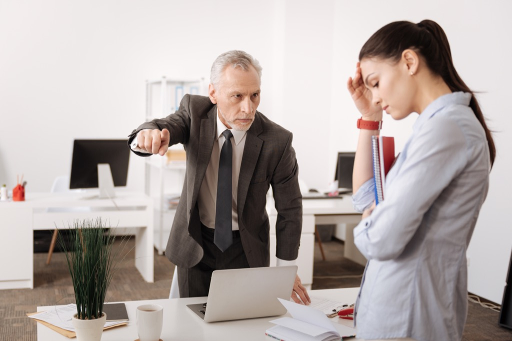 Bullying Boss Sexist at Work