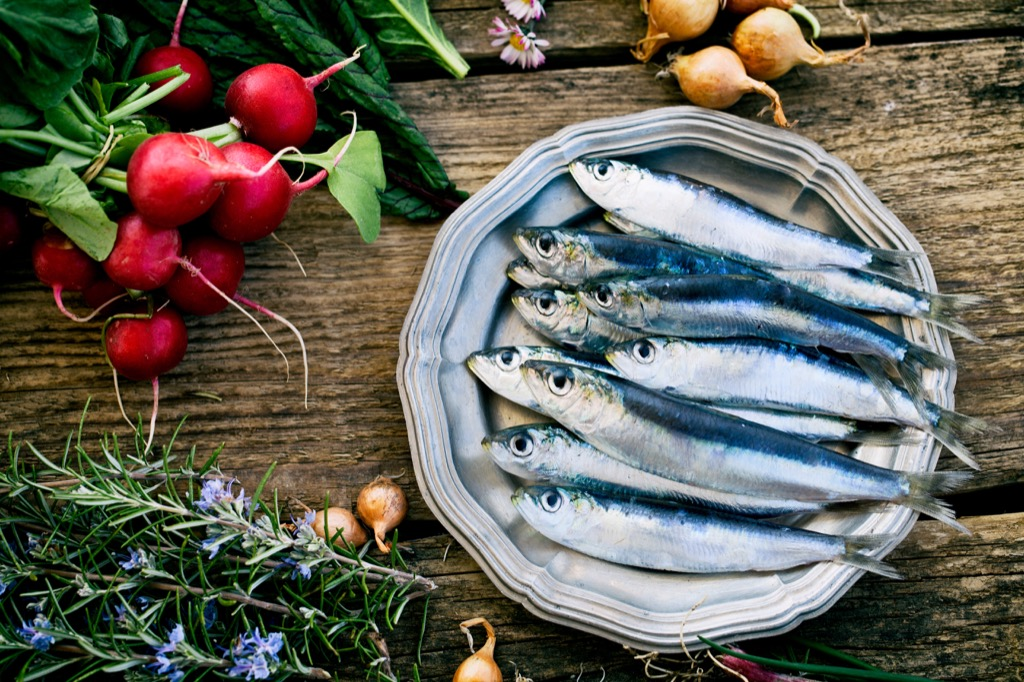 Sardines, healthy food