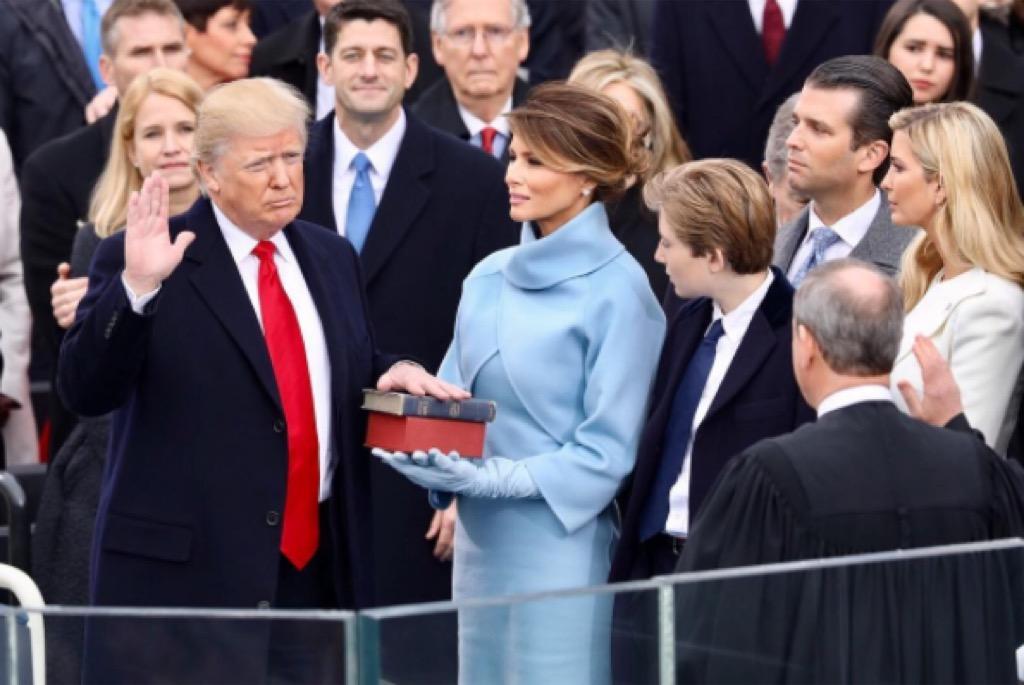 Donald Trump, oath of office