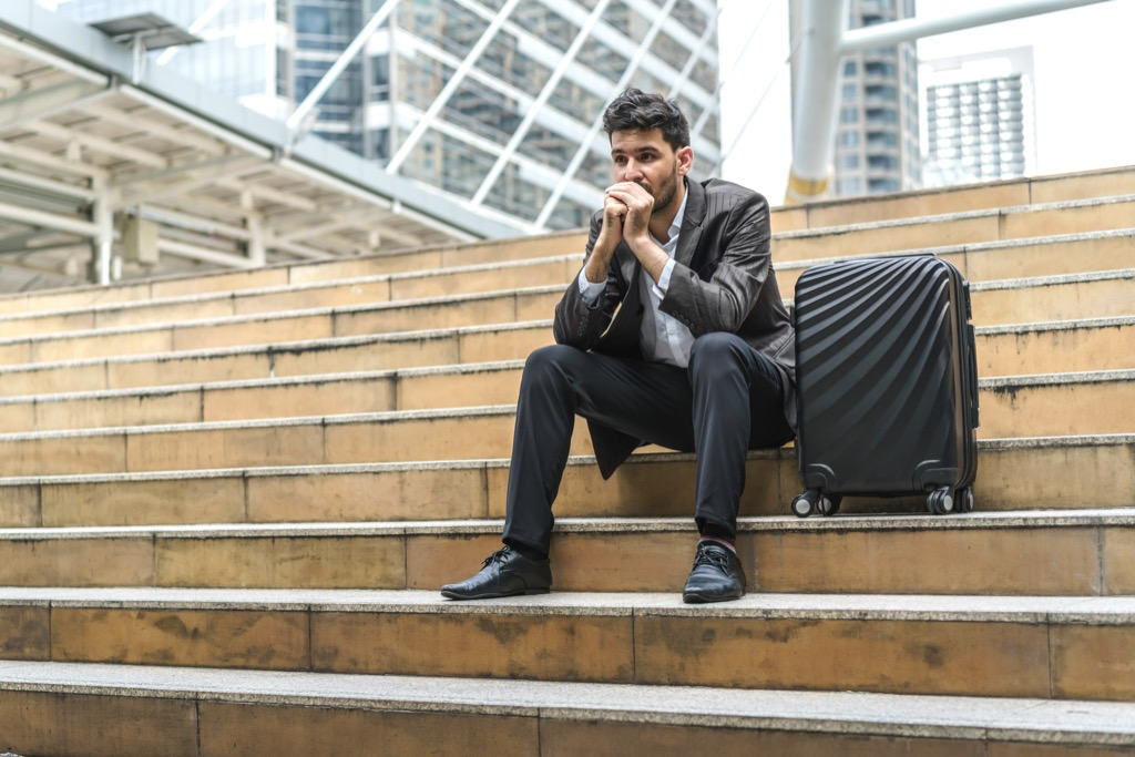 Man Unhappy with Career Regrets