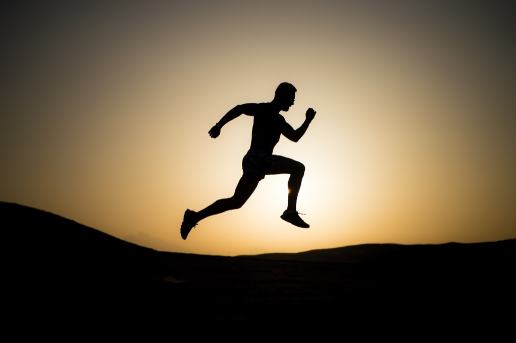 man running Sleep Better