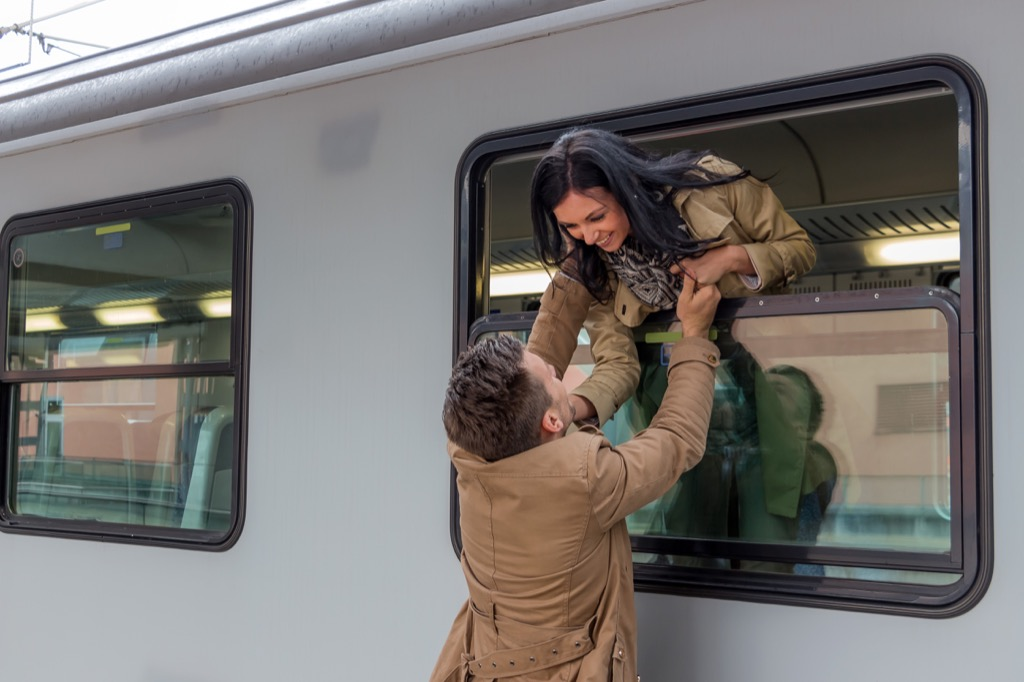 is my relationship doomed couple leaving on a train