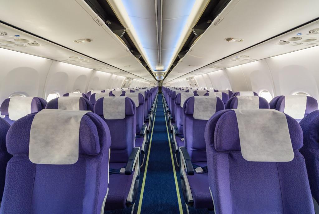 Airplane seats, travel