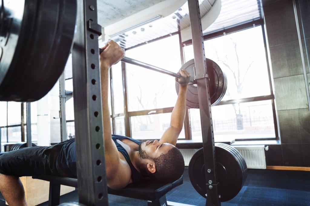 superhuman feats benching bench press